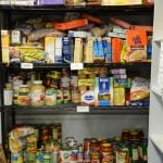 Pantry shelves after donations