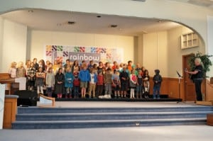 Third Grade honors grandparents with a song