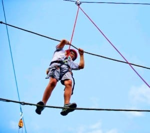 high ropes course photo for middle school webpage