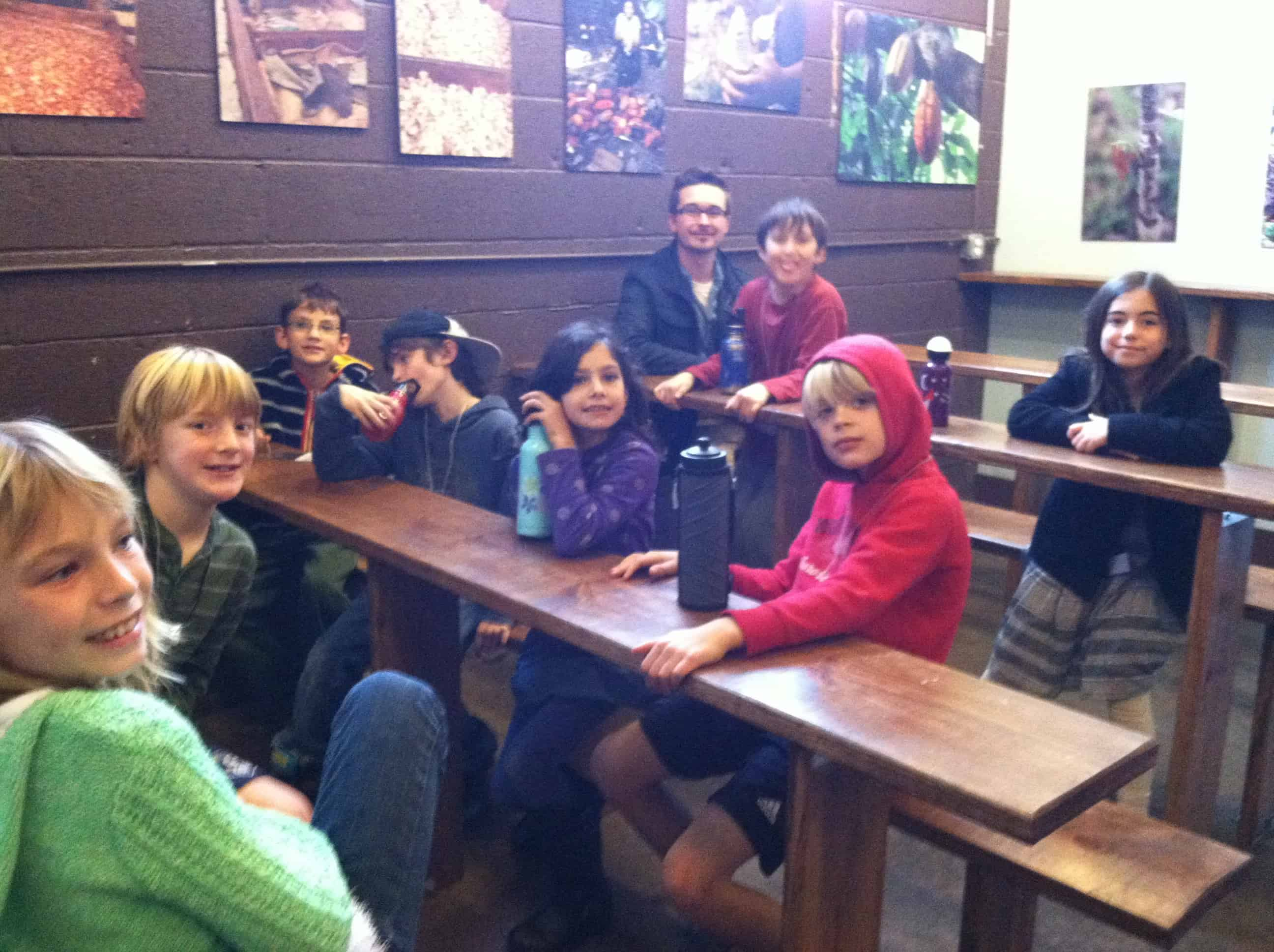 Third Grade – Legend of Chocolate and the French Broad Chocolate Lounge