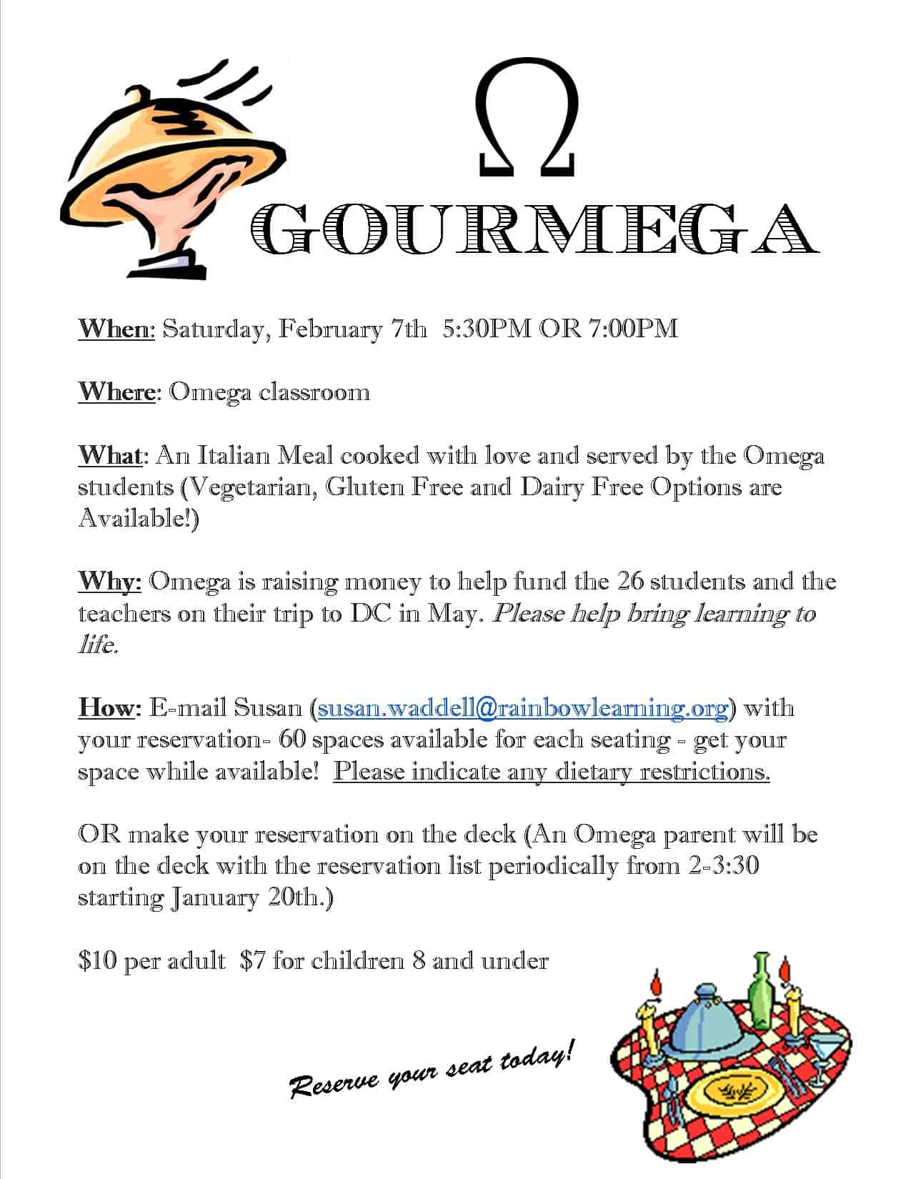 omega fundraising for washington DC