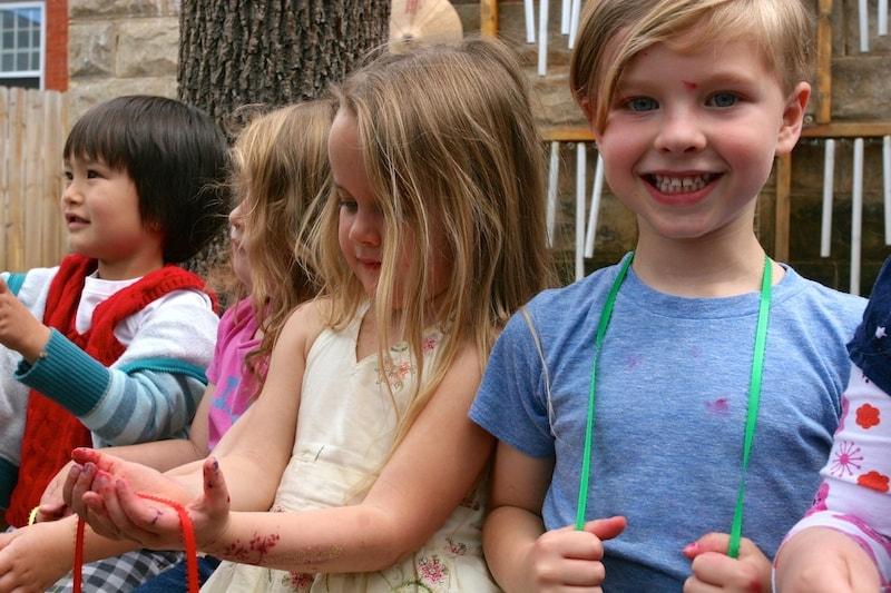 Kids enjoying the beautiful day.