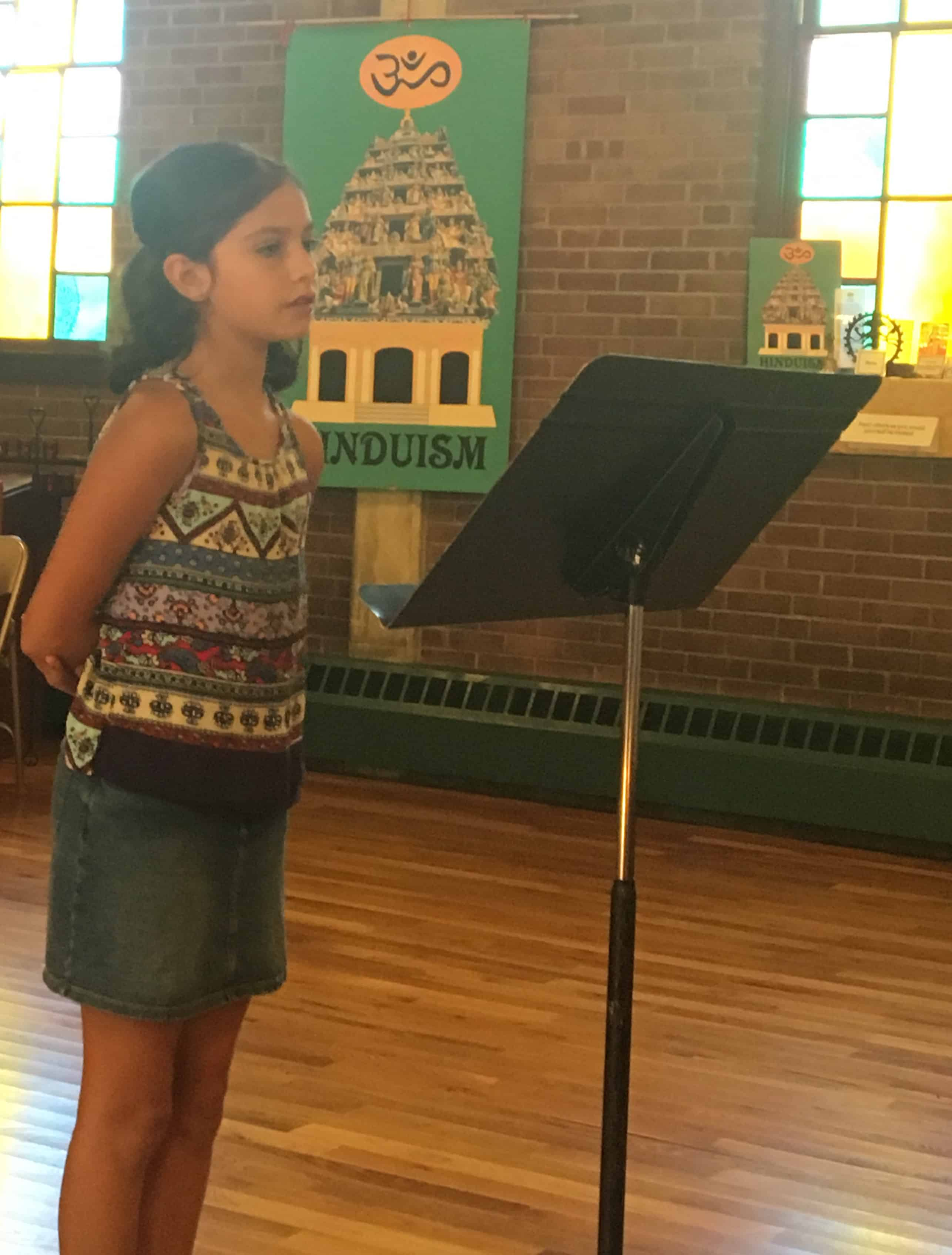 5th Grader Kafira Adams Wins WNC4Peace Poetry Award