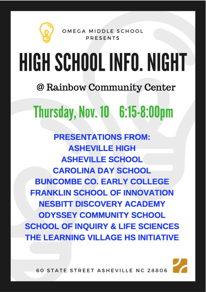 High School Info Night