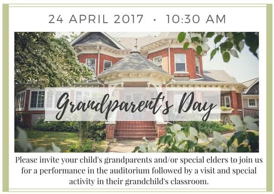 This Monday, Grandparent's & Elder's Day!