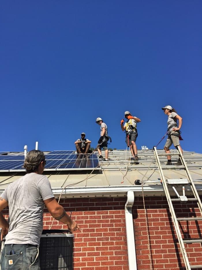 installing solar panels for solar power