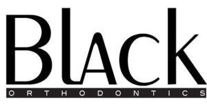 black orthodontics silver logo