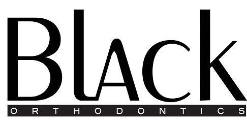 black orthodontics silver logo