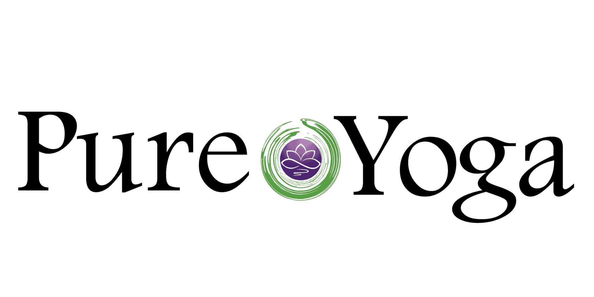pure yoga silver logo