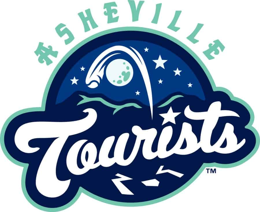 asheville tourists silver logo