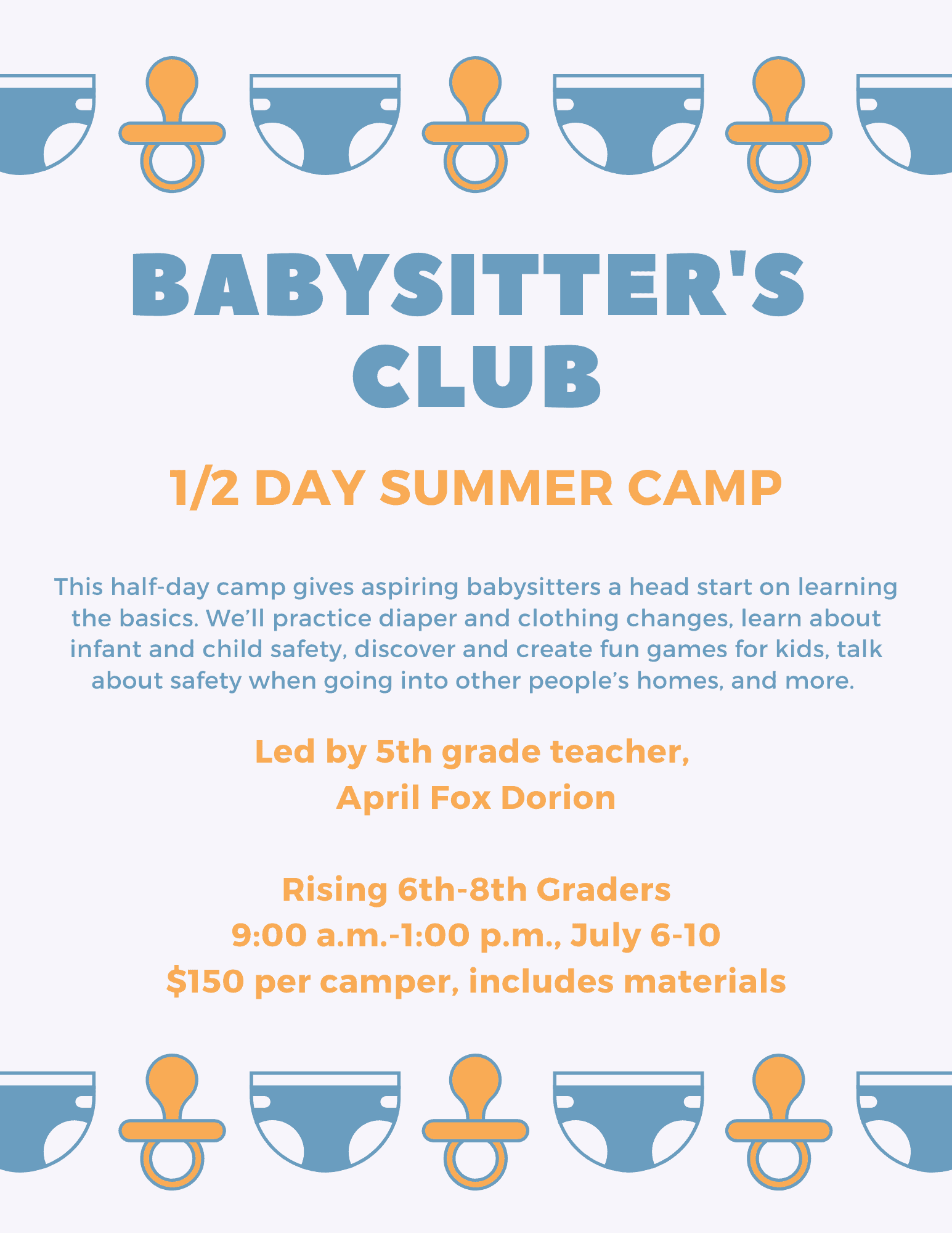 babysitter's club summer camp
