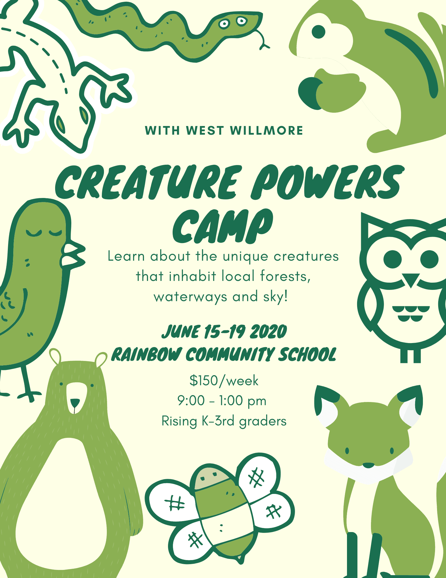 creature powers summer camp